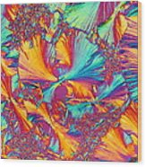 Kaleidoscope K Wood Print