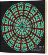 Kaleidoscope Of A Neon Sign Wood Print