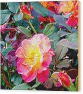 Kaleidoscope Of Roses Wood Print