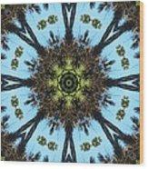 Kaleidoscope Palms Wood Print