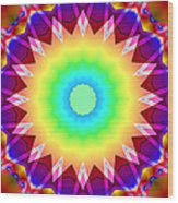 Kaleidoscope Rainbow Wood Print