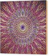 Kaleidoscope Retro  Wood Print