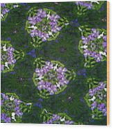 Kaleidoscope Violets Wood Print