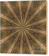 Kaleidoscope With Gold Wood Print