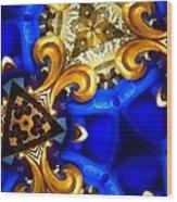 Kaleidoscopic Blues Fdl  Wood Print