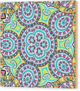 Kaleidoscopic Whimsy Wood Print