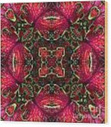 Kaleidscope Made From Image Of Coleus Plant Wood Print