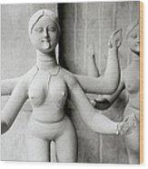 Kali Show Your Tongue Wood Print