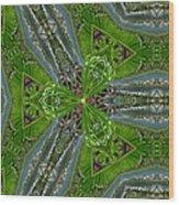 Kalido Plant Fronds Wood Print