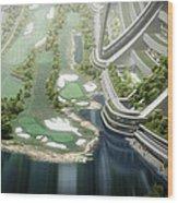 Kalpana One Golf Course Wood Print