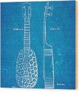Kamaka Ukulele Patent Art 1928 Blueprint Wood Print