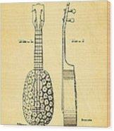 Kamaka Ukulele Patent Art 1928 Wood Print