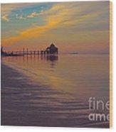 Kamalame Beach Wood Print