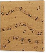 Kamasutra Music Coffee Painting Wood Print
