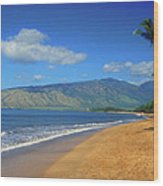 Kamole Beach Kihei Maui Hawaii Wood Print