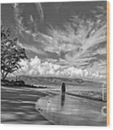 Kanahna Beach Maui Hawaii Panoramic Wood Print