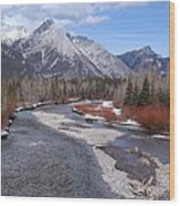 Kananaskis River Wood Print