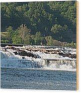 Kanawah Falls I - Spring Wood Print