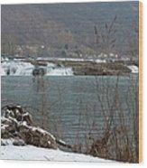 Kanawha Falls - Winter Wood Print