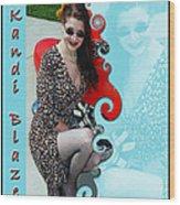 Kandi Blaze Poster 1 Wood Print