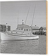 Kandy Of Barnstable Harbor 1950's Wood Print