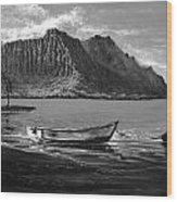 Kaneohe Bay Early Morn - Study Wood Print by Joseph   Ruff