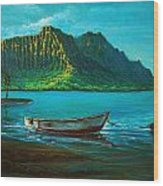 Kaneohe Bay Early Morn 1 Wood Print