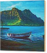 Kaneohe Bay Early Morn Wood Print by Joseph   Ruff