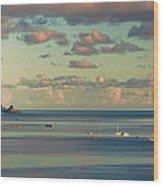 Kaneohe Bay Panorama Mural 3 Of 5 Wood Print