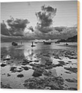 Kaneohe Bay Wood Print by Tin Lung Chao