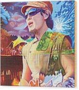 Kang At Hornings Hideout Wood Print