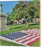 Kankakee Union Soldiers Memorial Wood Print