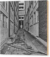 Kansas City Alley Wood Print