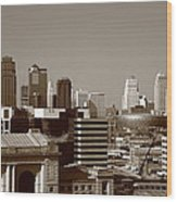 Kansas City Skyline 10 Wood Print