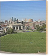 Kansas City Skyline And Park Wood Print