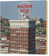 Kansas City - Western Auto Building 2 Wood Print