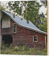 Kansas Hay Barn Wood Print
