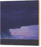 Kansas Lightning Storm Wood Print