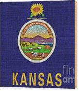 Kansas State Flag Wood Print by Pixel Chimp