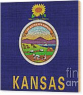 Kansas State Flag Wood Print