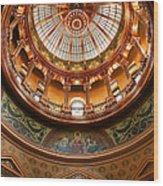 Kansas Statehouse Wood Print