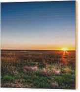 Kansas Sunrise Wood Print
