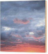 Kansas Sunset Wood Print