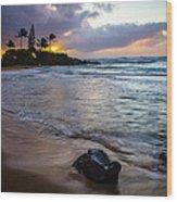 Kapa'a Kauai Sunrise Wood Print