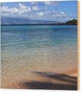Kapalua Bay Maui Wood Print