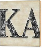Kappa Alpha Society - Parchment Wood Print