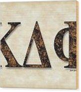 Kappa Delta Phi - Parchment Wood Print