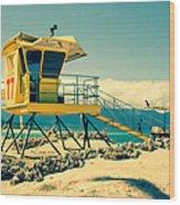 Kapukaulua Beach Lifeguard Station Paia Maui Hawaii  Wood Print