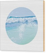 Kapuka'ulua Pure Blue Wood Print