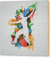 Karate Fighter Wood Print by Aged Pixel